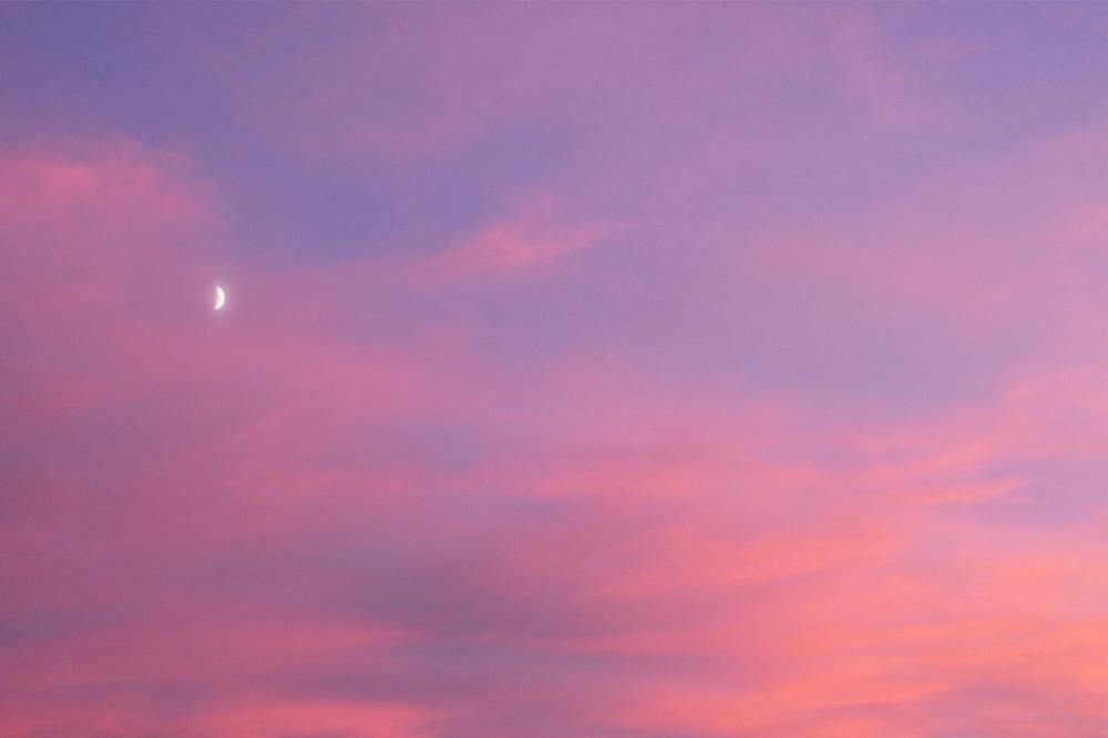 Photographie d'un coucheédu soleil coloré