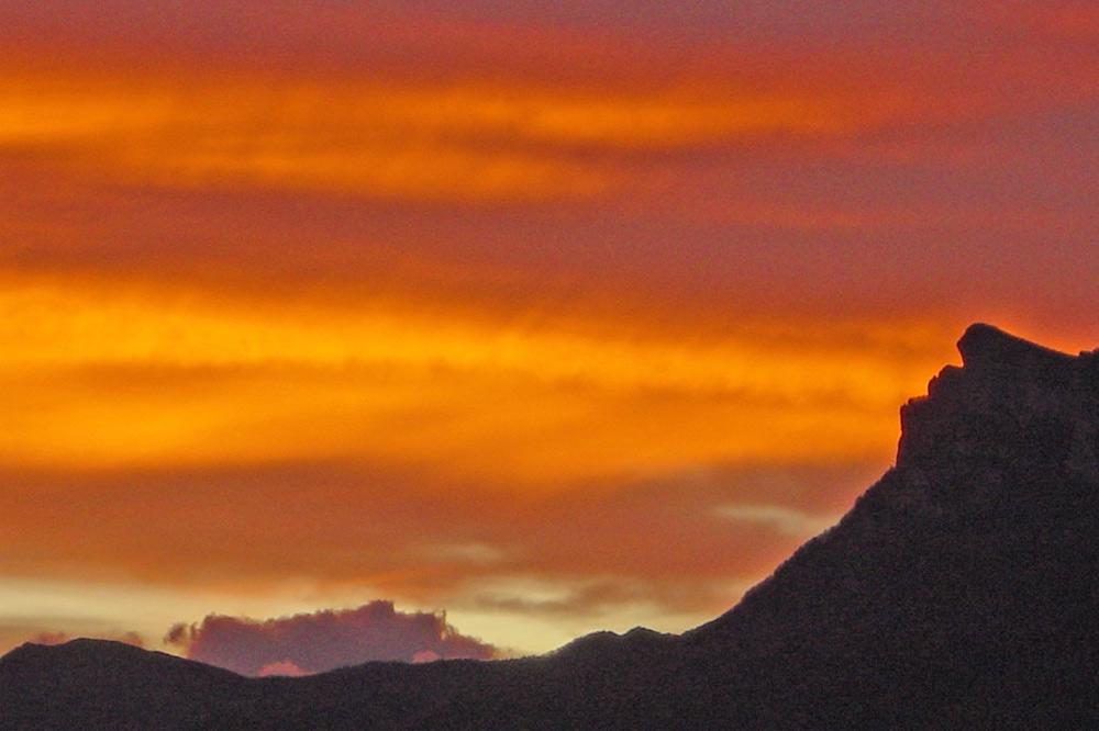 Couché de soleil sur le massif des 3 becs