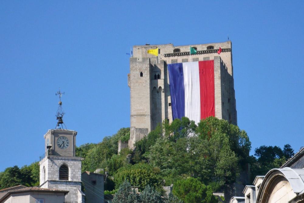Photographie du plus haut donjon de France à Crest