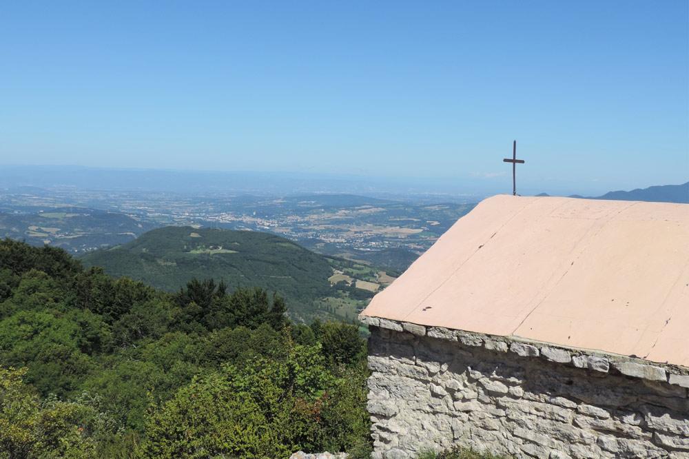 Photographie de la vue depuis la chapelle Saint-Médard dans la vallée de la Drôme