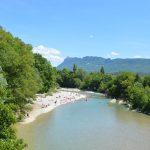 Photographie de la Rivière Drôme et de sa plage à Mirabel et Blacons